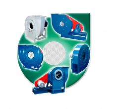 CENTRIFUGAL FANS FOR TRANSPORTING MATERIAL MEDIUM PRESSURE AND HIGH FLOW RATE